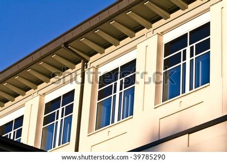 School College or University Building with Unique Architecture - stock photo