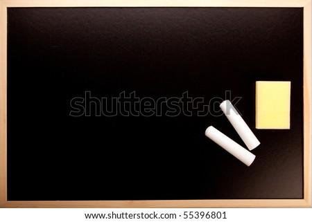 School concept, educational equipments, ruler, board - stock photo