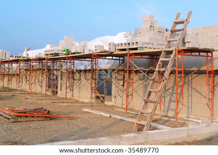 School construction site - stock photo