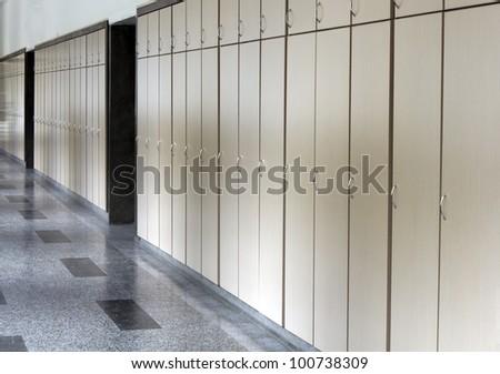 school corridor - stock photo