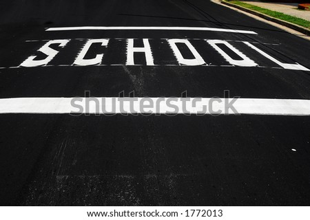 School crossing - stock photo