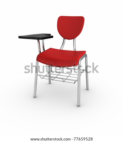 School Desk - stock photo