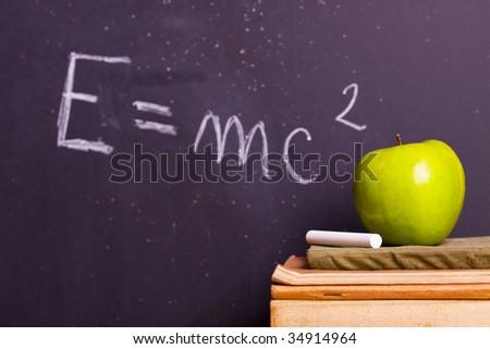 School equation - stock photo