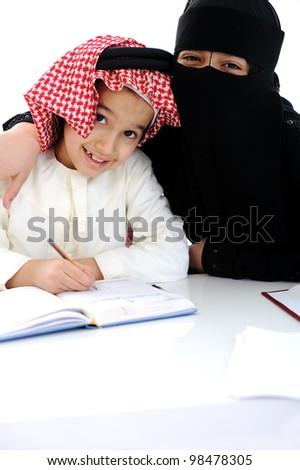 School girl and boy - stock photo