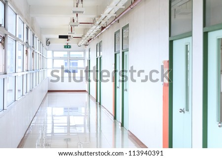 School hallway - stock photo