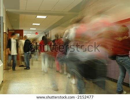 School Hallway 4 - stock photo