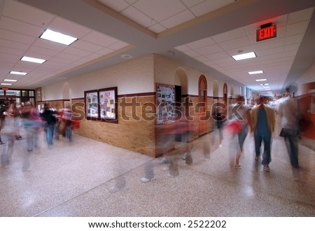 School Hallway 5 - stock photo