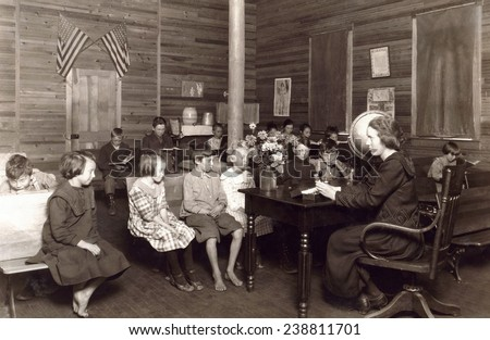 School in session - Sunset School, Marey, West Virginia. Photo by Lewis Wickes Hine, October 7, 1921.