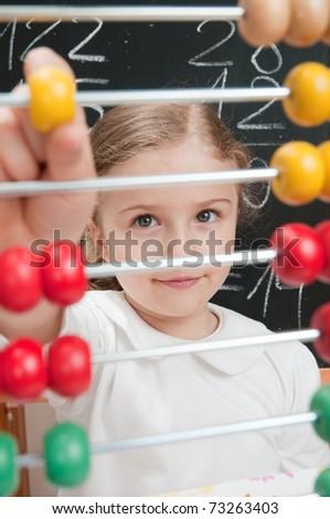 School - Mathematics lesson - stock photo