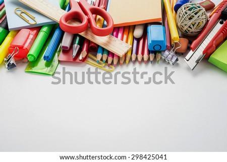 School office supplies   - stock photo