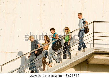 school out - stock photo
