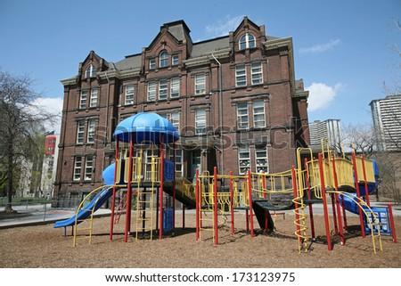 school playground equipment - stock photo