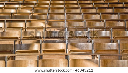 school seats - stock photo