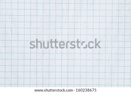 School sheet of paper in the grille as a background or texture. High resolution image. - stock photo