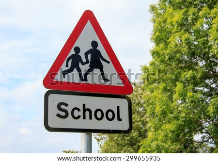 School sign - stock photo