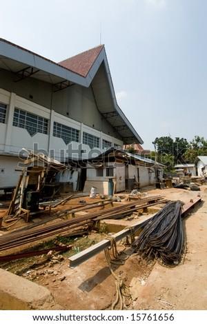 school site - stock photo