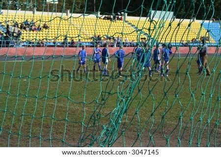 school soccer - stock photo