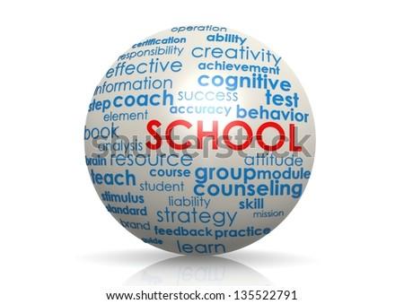 School sphere - stock photo