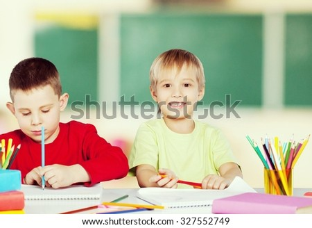 School students. - stock photo