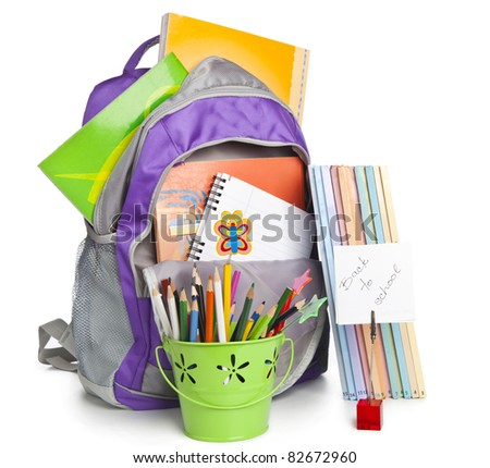 School stuff - stock photo