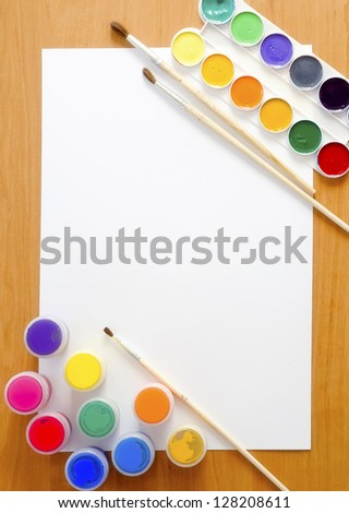 school supplies - stock photo