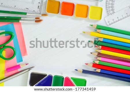 school supplies - stock photo