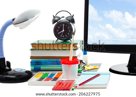 school supplies for today's pupils - stock photo
