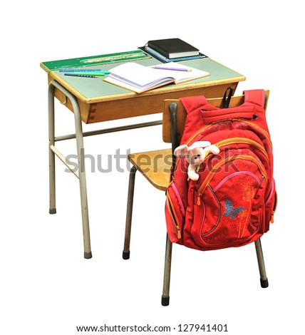 School table - stock photo