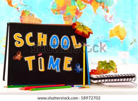 School time conceptual image of education & knowledge - stock photo