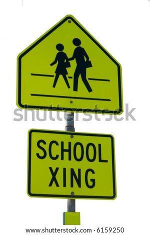 SCHOOL XING isolated sign