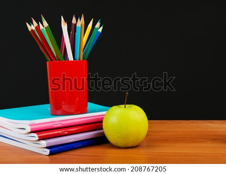 Schoolchild and student studies accessories. Back to school concept.