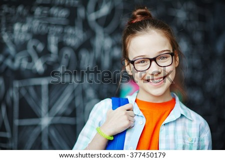 Schoolgirl - stock photo