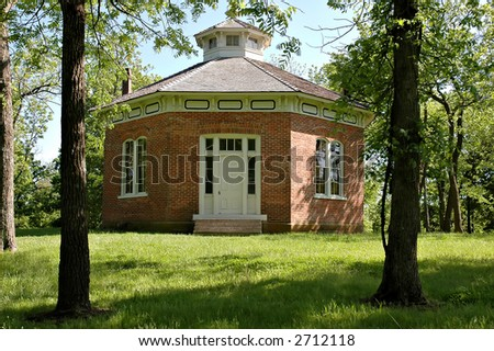 Schoolhouse at Watkins Mill State Park in Missouri.