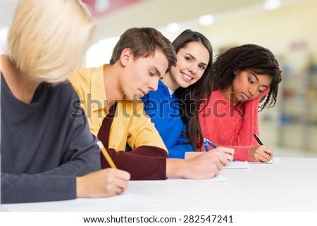Schooling, school, students. - stock photo