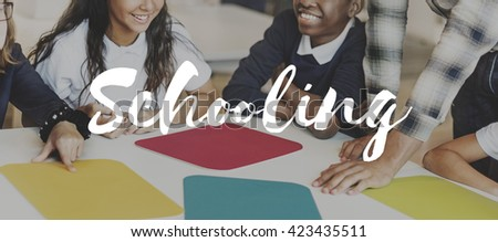 Schooling Students Education Academic Concept - stock photo