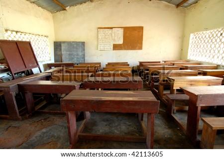 Schools in Africa - stock photo