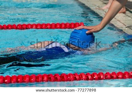 Schwimmer im Wettkampf - stock photo