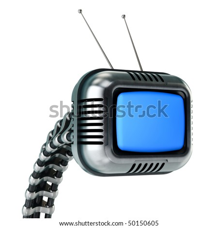 Sci-fi tv in retro style (HQ 3d render) - stock photo