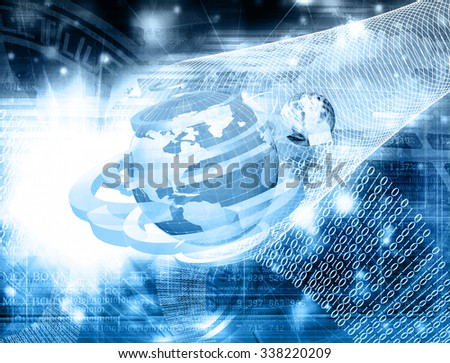Science abstract image - stock photo