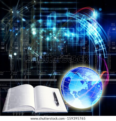 Science abstract technology.Globalization background  - stock photo