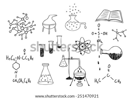 science and chemistry set - stock photo