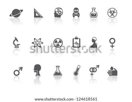 Science and Medical Icon Symbol Collection - stock photo