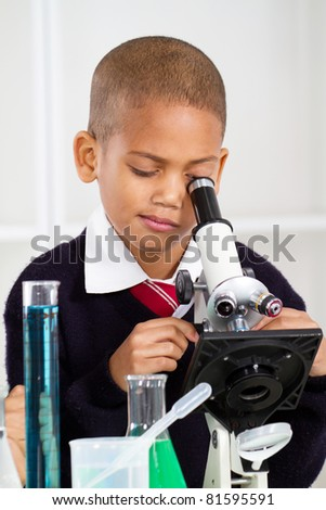 science boy - stock photo