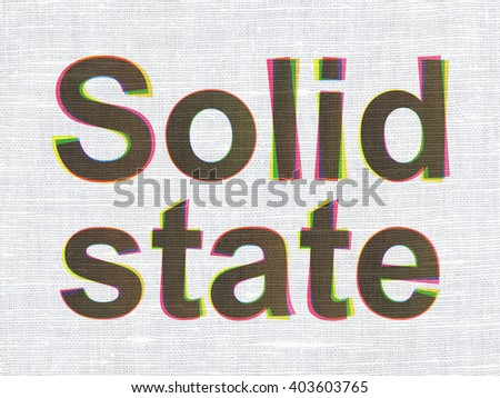 Science concept: CMYK Solid State on linen fabric texture background