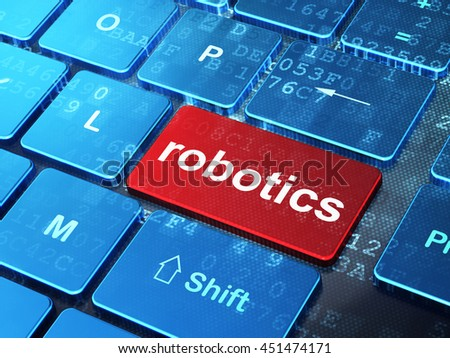 Science concept: computer keyboard with word Robotics on enter button background, 3D rendering - stock photo