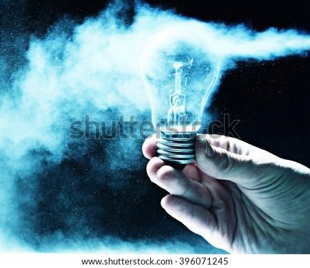 science concept electric light bulb idea - stock photo