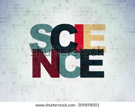 Science concept: Painted multicolor text Science on Digital Paper background - stock photo