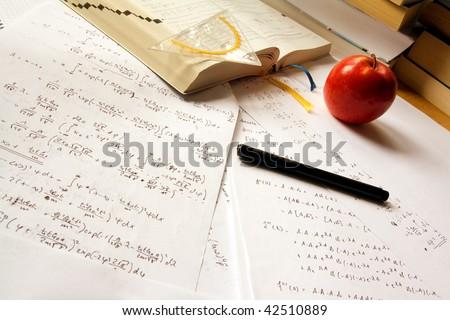 Science desk - stock photo