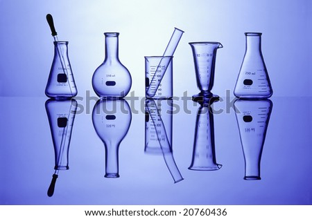 Science Laboratory glassware for research - stock photo