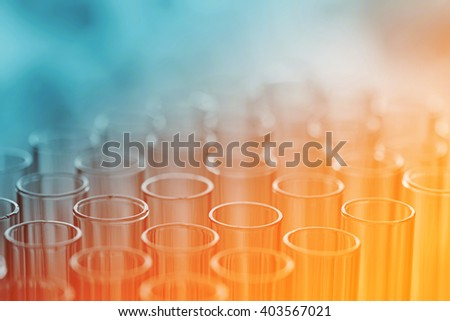 science laboratory test tubes , laboratory equipment - stock photo